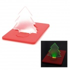 SXH-sdd001 Creative Ultra-Thin Christmas Tree Shaped 2-LED Green Light Card Lamp - Red (1 x CR1220)