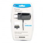 Lidu L0825 AC Power Charger Adapter w/ 30-Pin Male Cable for Samsung Tab Tablet PC - Black (EU Plug)