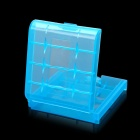 Protective PP Plastic Storage Case for 4*AA / AAA Batteries