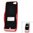 Externe 2800mAh Emergency Power Battery Charger Case für iPhone 5 - Red