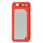 Protective ABS Plastic Case w/ Stylus for Iphone 5 - Red