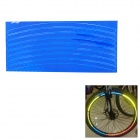 040802 Bicycle Reflective Wheel Stripe Sticker - Blue
