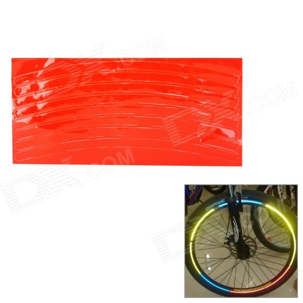 040805 Bicycle Reflective Wheel Stripe Sticker - Red