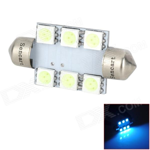 SENCART Festoon 39mm 1.2W 84lm 6-SMD 5050 LED Ice Blue Reading / License Plate / Dome Lamp (12V)