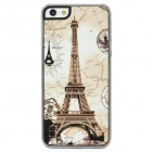 Eiffel Tower Pattern Protective Plastic Case for Iphone 5 - White + Yellow