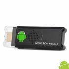 A10S Android 4.0.4 Mini PC Dongle w/ Wi-Fi / TF / 1GB Memory / 4GB ROM / HDMI - Black