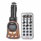 "1.1"" LCD Car MP3 Player FM Transmitter with Remote Controller - Brown"