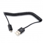 Flexible USB Charging / Data Transmission Cable for Samsung / HTC / Blackberry - Black (100cm)