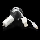 IPEGA PG-I5021 Cable Winder Car Charger + Lightning 8-Pin Cable for iPhone 5 / iPod Touch 5 / Nano 5
