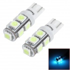 SENCART T10 1.8W 117lm 9-SMD 5050 LED Ice Blue Car Steering Light (12v / 2 PCS)