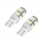 SENCART T10 1.8W 117lm 9-SMD 5050 LED Ice Blue Car Light Directivo (12v / PCS 2)