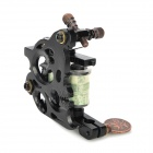 Cast Iron Alloy Tattoo Machine Liner Shader Gun - Black