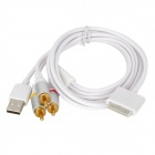 30-Pin Video Output AV Cable for iPhone 3 / 3GS - White (1.5m)