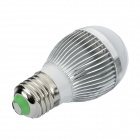 HS01003A E27 3W 6500K 235lm White 3-LED Light Bulb - Silver (85~265V)