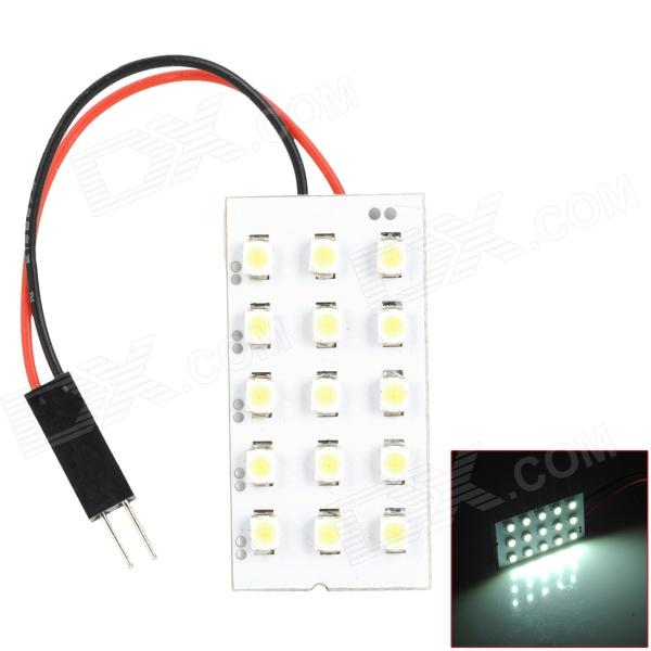 T10 BA9S Festoon 30~42mm 1.6W 105lm 15-SMD LED White Car Reading Lamp (12V) t10 32mm 42mm festoon 3 6w 124lm epistar 36 cob led white car reading light dc 12 24v