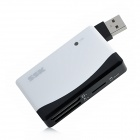 SSK SCRM057 Multi-in-One USB 2.0 Card Reader for CF / SD / MS / TF / Micro SD - White + Black