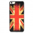British Flag Pattern Protective Plastic Back Case for iPhone 5 - Red + Black + White