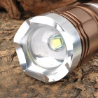 NEW-K1 900lm 3-Mode White Zooming Flashlight w/ CREE XM-L T6 - Dark Brown + Silver (1 x 18650/26650)