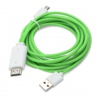 Micro USB to HDMI HDTV MHL Cable w/ USB Port for Samsung Galaxy S3 i9300 / Note II N7100 - Green