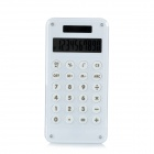 AQ446 1.8'' LCD 10-Digital Solar Powered Calculator w/ Maze Game - White