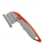 Professional Manual Grooming De-Shedding Brush Tool for Pets - Red + Grey