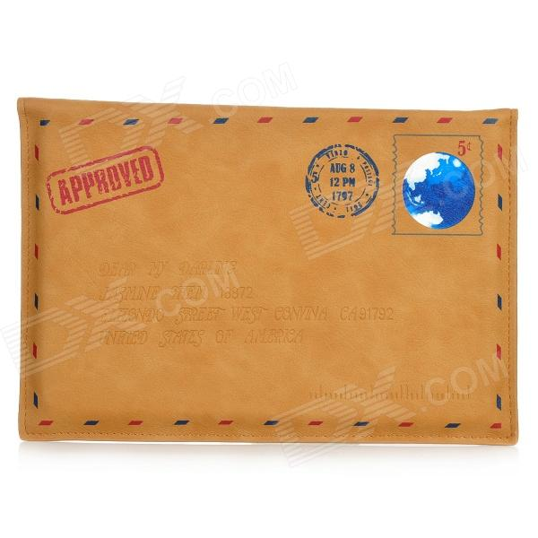 SAMDI Envelop Style Protective Kraftpaper + PU Leather Case for Ipad MINI - Brown