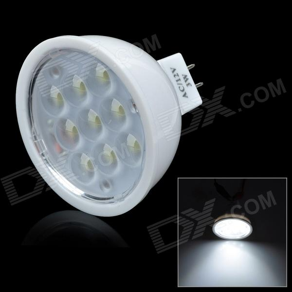 GU5.3 3W 170lm 5500K 9-MR16 LED White Light Bulb (12V)