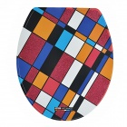 1016 Multi-Colored Check Pattern Stylish Self-Adhesive Toilet Seat Cover Sticker
