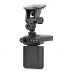LSON 2.5&quot; TFT 1.3MP CMOS Wide Angle Car DVR Camcorder w/ 6-LED IR Night Vision / AV-out - Black