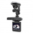"LSON 2.5"" TFT 1.3MP CMOS Wide Angle Car DVR Camcorder w/ 6-LED IR Night Vision / AV-out - Black"