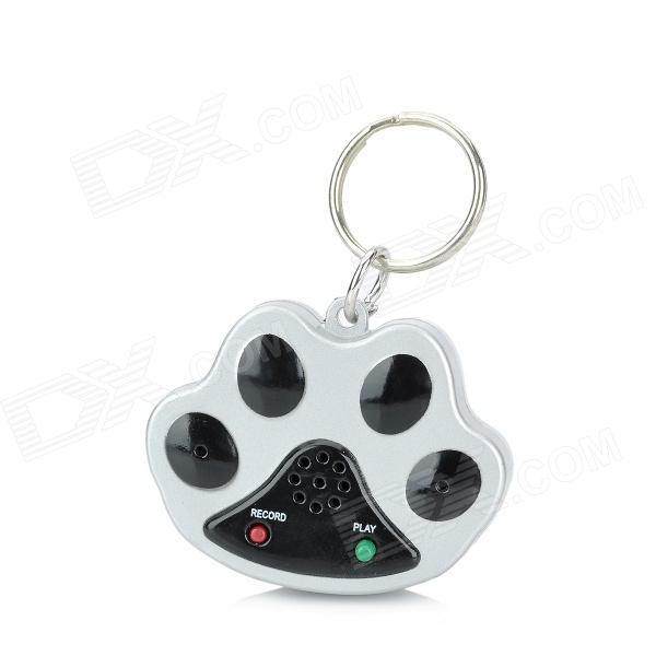 Pet Dog Safety Recorder Collar Tag - Black + Silver (2 x AG13) pet safe electronic shock vibrating dog training collar with remote control 2 x aaa 1 x 6f22 9v