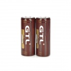 "GTL Rechargeable 3.7V ""5800mAh"" 26650 Lithium Battery w/ Protection Circuit Module - Brown (2 PCS)"