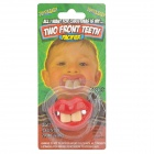 HC-1 Creative Funny Teeth Personality Pacifier Soother Nipple - Red