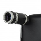 3-in-1 8X Zoom Telescope + 60X / 100X Microscope Lens w/ Hard Case for Iphone / Ipad - Black