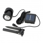 BSV BSV-SL006 Solar Powered 6-LED Amphibious Spotlight - Black