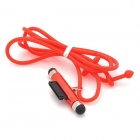 FY-G-03 Silicone Lanyard Dock Connect Neck Strap w/ Dual-Head Stylus for Iphone / Ipod - Deep Red
