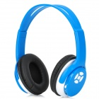 WS-2000 USB Rechargeable Wireless Headphones MP3 Player w/ TF / FM / 3.5mm Jack - Blue + White
