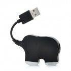 Elephant Shape 480Mbps High Speed USB 2.0 4-Port HUB - Black
