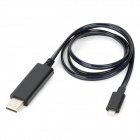 Flowing Blue Light USB to 8-Pin Lightning Data / Charging Cable for iPhone 5 / iPad Mini / iPad 4