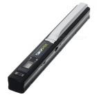 "SP 410 0.7"" LCD 900dpi Cordless Handheld A4 Handy Scanner w/ USB + SD / TF Card Slot - Silver"