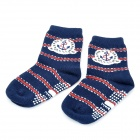 Cotton Polyester Anti-Slip Boy Baby Socks - Deep Blue (13~15cm)