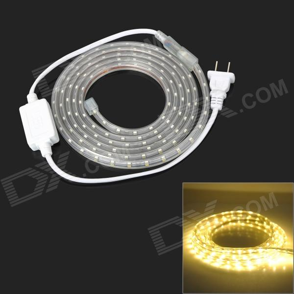 9.6W 480lm 120-3528 SMD LED Strip Decoração Warm White Light (220V / 2-Flat-Pin Plug / 2m)