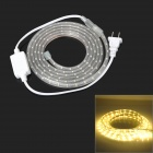 9.6W 480lm 120-SMD 3528 LED Warm White Light Decoration Strip (220V / 2-Flat-Pin Plug / 2m)