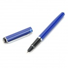 HERO 7021 Refillable Iridium Gold Ink Pen w/ Rhinestone - Blue
