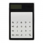 MX-188 Ultra-Thin Solar Powered LCD Touch Screen 8-Digit Transparent Pocket Calculator - Black
