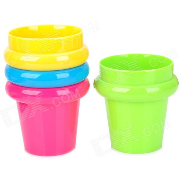 6088 Cute Space-saving Happy Cups - Multicolored (4 PCS)