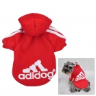 F034-7 Adidog Fashion Pet Cat Dog Sportswear Clothes - Red (Size M)