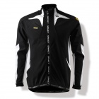SPAKCT C6 Radfahren Polyester + Fleece Long Sleeve Coat w / Mesh Zipper Bag - Black + White (Größe XL)