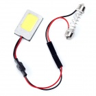 Weixinda LS-3004 2W 100lm 6500K 1-SMD LED Car Roof White Light Lamp - Silver (DC 12V)