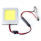 Weixinda LS-3006 5W 250lm 6500K 1-SMD LED Car Roof White Light Lamp - Silver (DC 12V)